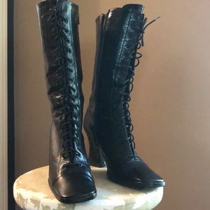 Original Prada Lace-Up Leather Boots